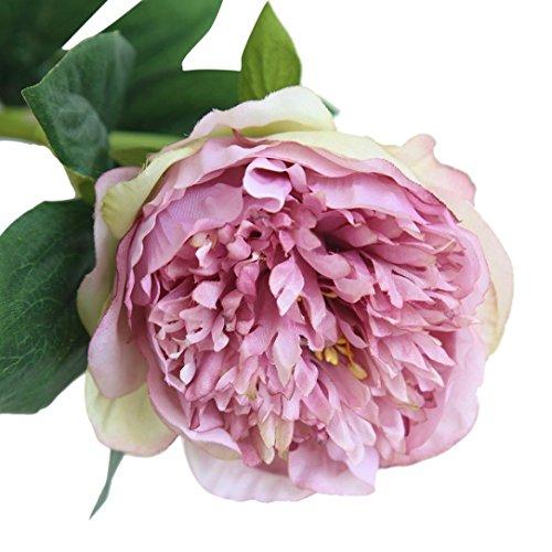 Trada Blumen-Köpfe Künstlich Blumen, Kunstseide gefälschte Blumen Pfingstrose Blumen Hochzeitsstrauß Braut Hortensien Dekor Plastikblumen Deko Pflanzen für DIY Hochzeit Party (Lila)