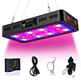 2400W Plant Growing Lamps with Timer Control, Full Spectrum LED Grow Light with Veg and Bloom Switches for Plants in Different Growing Stages with Daisy Chain and Thermometer Humidity Monitor