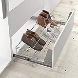 Casaenorden - Zapatero extraíble y Extensible para Instalar en un Frente de cajón para Armario, Ancho 450-650 mm