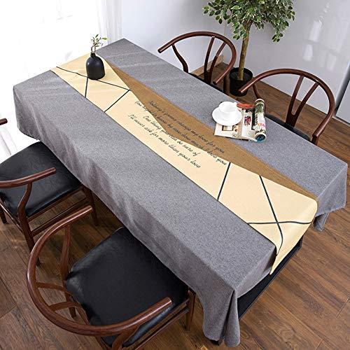 Nappe de Table Basse, Couverture de Meuble TV Anti-poussière, Drapeau de Table Longue, Nappe de Meuble de télévision, Lin en Coton Bei(;)