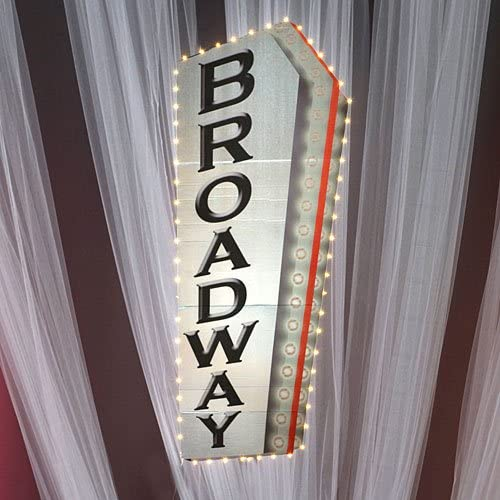 Broadway Sign Standup New products, world's highest quality popular! Photo Booth Party Backdrop Prop Background Oklahoma City Mall
