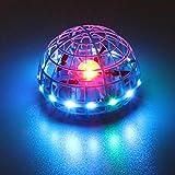 DASNTERED Juguetes de Bola voladora, Juguetes voladores Bola de dron para niños, Dron Manual LED Recargable USB para niños, Bola Flotante de Acrobacias en órbita para Adultos