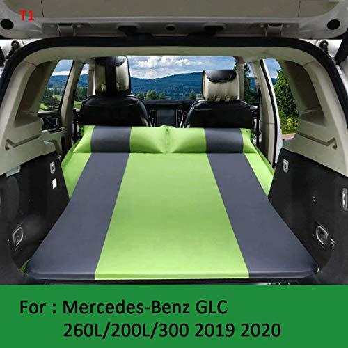 Geeignet für automatisch aufblasbares Mercedes-Benz GLC Auto Bett 2019 2020 faltbares Kofferraum-Luftkissenbett 260L / 200L / 300 Luftmatratze, Grün + Grau, T1