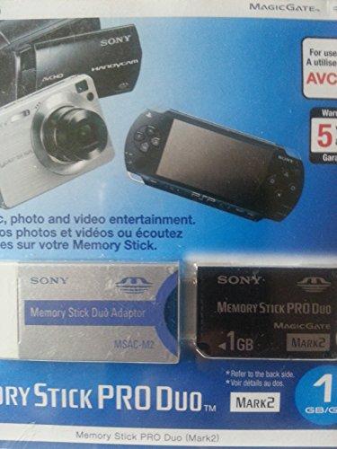 Unidad de memoria portátil de 1GB PRO DUO Mark 2Sony MS-MT1G (CRI)