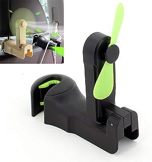Multifunctional Electric Fan Car Seat Rear Row Hidden Hook Storage Fan Home Rear Seat Car Interior Supplies,1