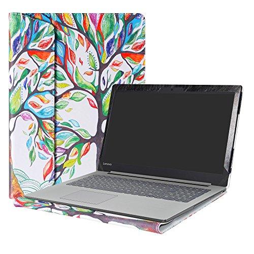 Alapmk Diseñado Especialmente La Funda Protectora de Cuero de PU Para 15.6' Lenovo Ideapad 320 15 320-15ikb 320-15iap 320-15abr 320-15ast/Ideapad 520 15 520-15ikb Series Ordenador portátil,Love Tree
