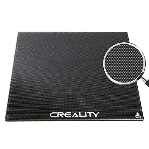 Creality CR 10/10S Plataform Placa de cristal para impresora 3D con revestimiento microporoso, 310 x 310 x 4 mm