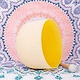 ENERGYSOUND Frosted E Plexo Solar Chakra de color amarillo Cuarzo de cristal Cantando 25 cm ---- Terapia de yoga Curación con sonido