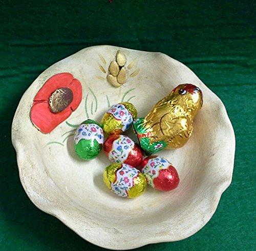 Schalen Tabletts, Schokolade Schüssel Keramik Mohn Linie