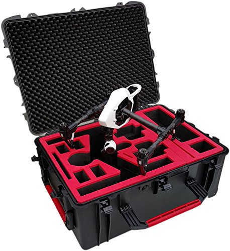 Professioneller Transportkoffer passend für DJI Inspire (Pro) X5 mit montierter Kamera und ausreichend Platz für viel Zubehör, 2 Sender und bis zu 11 Akkus! (Landing Mode) (Für Inspire - (X3))