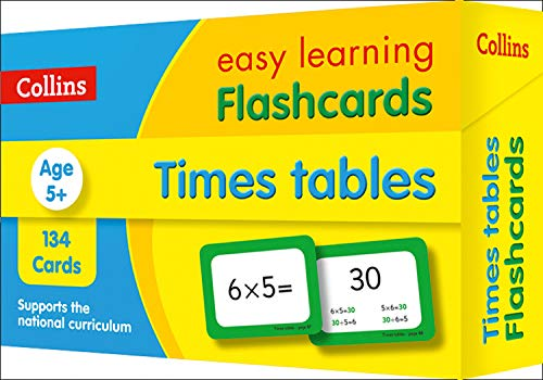 Times Tables Flashcards: KS2 Maths Home Learning and School Resources from the Publisher of Revision Practice Guides, Workbooks, and Activities. (Collins Easy Learning KS2)