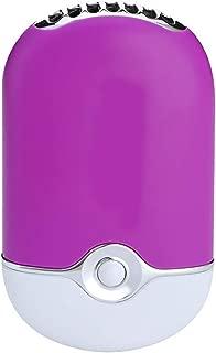 SHANGRUIYUAN-Mini Fan Multifunction Mini Portable Hand Held Fan Humidification Cooler Fan Eyelash Dryer Nail Dryer USB Air Blower (Color : Purple)