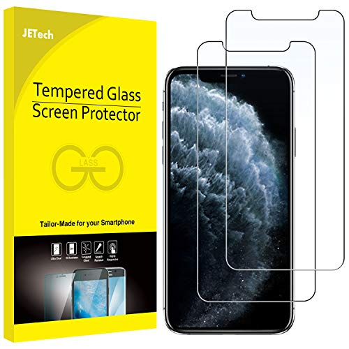 "JETech Film de Protection d'écran pour iPhone 11 Pro, iPhone XS et iPhone X 5,8"" en Verre Trempé, Lot de 2"
