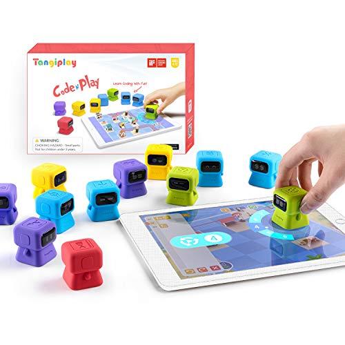 Tangiplay STEM Spielzeug Montessori Lernspiele,Kids Coding, Programmierbarer Roboter, Spielerisch...
