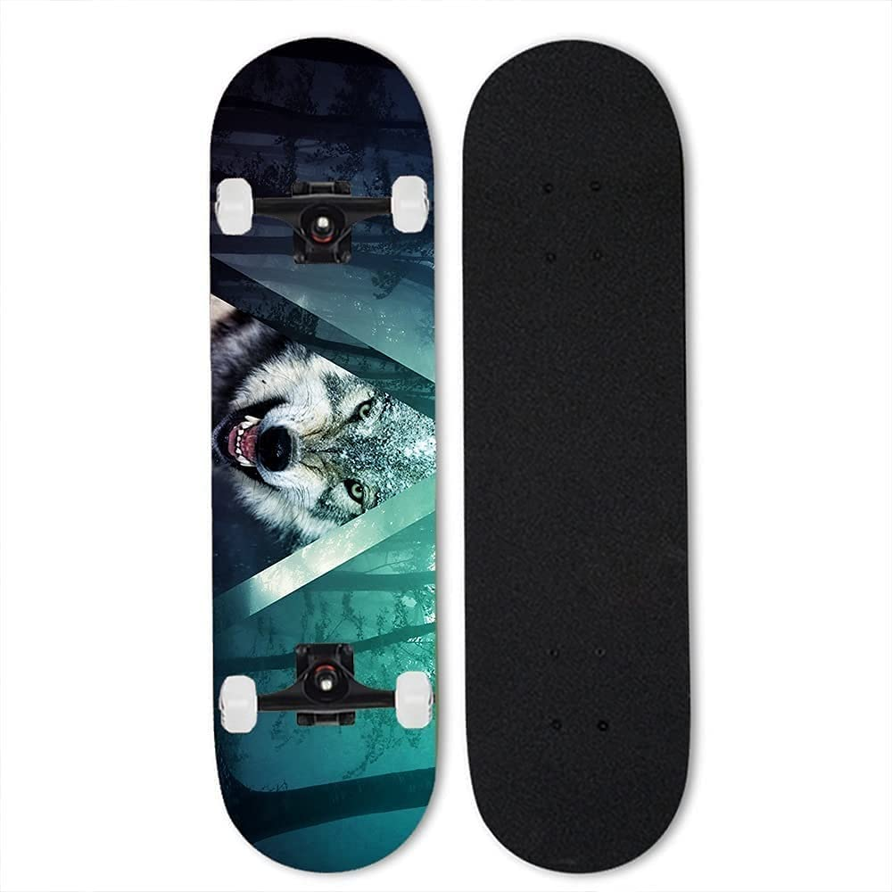 Ltyxyuan Large special price Outdoor Extreme Sports Wolf for Skateboard,Skateboard New Orleans Mall