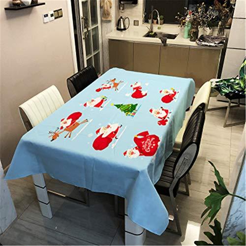 QINQI Mantel Decorativo NavideñO para Comedor, Mantel De Cocina, Mantel con Estampado De AñO Nuevo para El Hogar 140x180CM