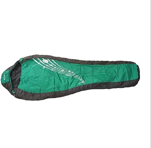 CNWYAN Sac De Couchage De Camping en Plein Air, Sac De Couchage De Voyage De Camping, Sac De Couchage portable Imperméable Froid, Vert