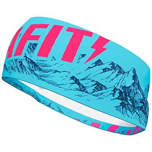 DYNAFIT Graphic Performance Headband Blau, Kopfbedeckung, Größe One Size - Farbe Silvretta