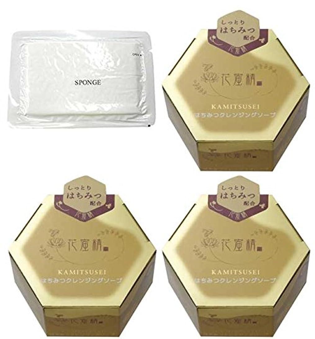 検体シンプトン謙虚花蜜精 はちみつクレンジングソープ 85g 3個 + 圧縮スポンジセット