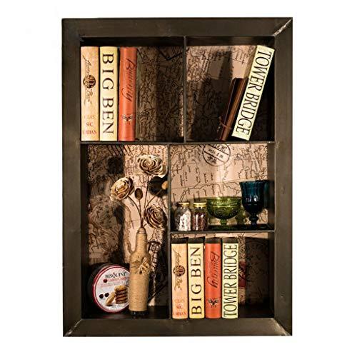 Vintage Eisen Wandregal, Loft Retro industriellen Stil Wand-Eisenregal Weinregal Regale Organizer Home Dekoration für Bar Bücher Pflanzen Küche, 66,5 * 18 * 91,5 cm