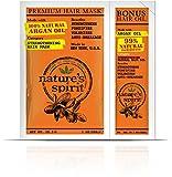Nature's Spirit Premium Fortalecimiento Máscara de pelo Aceite de argán 30 ml con Bonus Aceite de pelo de argán 3 ml – fortalece, fortalece y volumiza el cabello, previene la rotura del cabello futuro