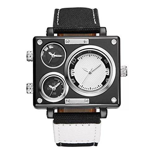 QAR ziet u nieuwe grote tafel design canvas outdoor sport en vrije tijd horloge heren drie beweging mode getijdenbord smartwatch