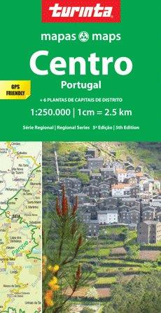 Preisvergleich Produktbild Zentralportugal / Região Centro ( Portugal) regionale Straßenkarte 1:250.000 mit Stadtplänen,  Entfernungstabelle und Ortsregister Blatt SR2 Turinta Maps