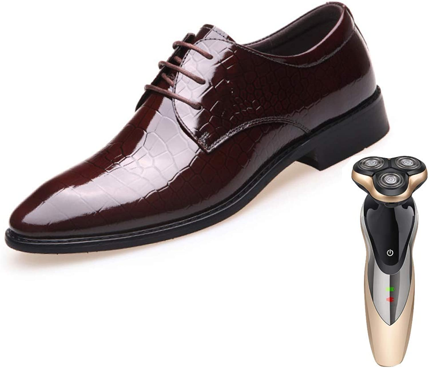 LYZGF Men, Formal Wear, Lace, Business, Casual, British, Wedding, Leather shoes