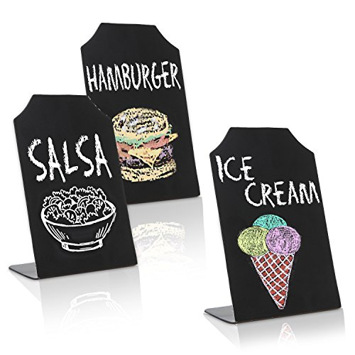 MyGift Set of 3 Tabletop Chalkboard Memo Message Signs/Event Place Cards
