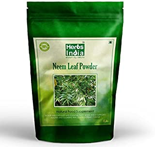 Organic Neem Powder 16 Ounces(1 Pound) - USDA Certified Organic. No Preservative and all Natural - HerbsIndia
