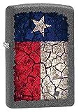 Zippo Lighter: Texas Flag, Cracked Soil - Iron Stone 80675
