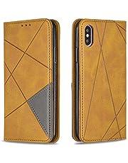 Hoesje voor iPhone XS/iPhone X Wallet Book Case, Magneet Flip Wallet met Kaarthouders slots Robuuste schokbestendige Bookcase voor Apple iPhone XS/X -