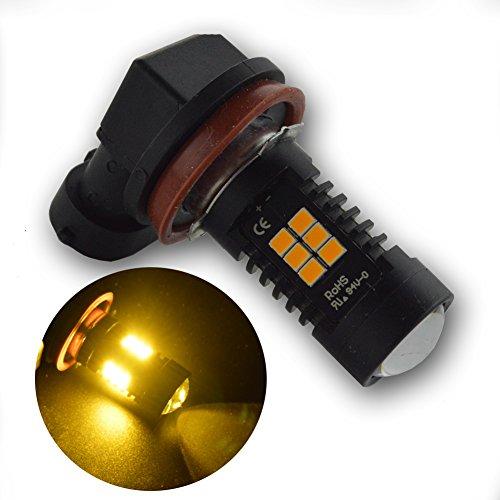 Ruiandsion de voiture lumière LED H11 Jaune Amberfog Jour ampoule lampe Phare DRL 3030 laiteux 12 V-24 V 840lm 10 W 2 PCS