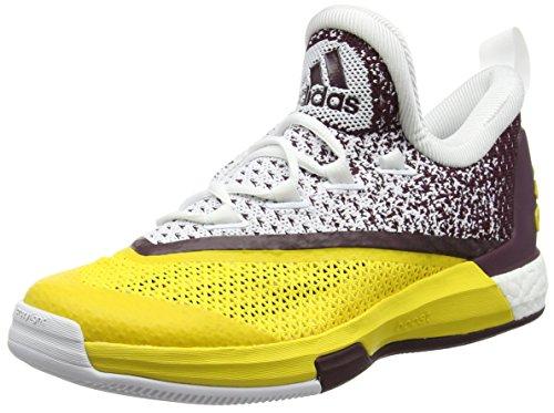 adidas Herren Crazylight Boost 2.5 Low Basketballschuhe, Blanco Amarillo Granate Ftwbla Eqtama Granat, 50 EU