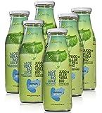 Green Frog Jugo de Aloe Vera Bio sin Pulpa Aloe Vera para Beber Ecológico elaborado en España Pack de 6 Botellas, 6x500 ml