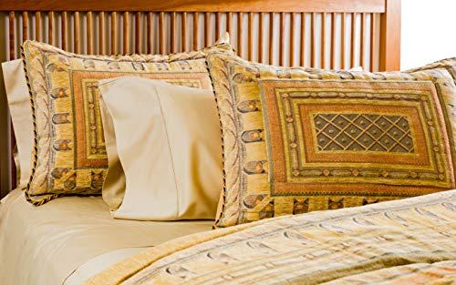 La Rochelle Heathered Striped Flannel Sheet Set Green Cgg Home Fashions 10663 King