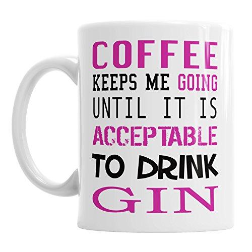 Koffie houdt me Gin Quote Verjaardag Moeders Dag Nieuwigheid Thee Mok Gift