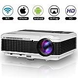 EUG HD 1080p LED Proyector WiFi WXGA 1280x800 Resolucion Multimedia Cine en Casa...