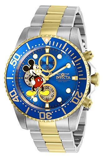 Invicta 27390 Disney Limited Edition Mickey Mouse Reloj para Hombre acero inoxidable Cuarzo Esfera azul