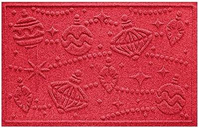 """Aqua Shield Ornaments Mat, Solid Red, 2"""" x 3"""""""