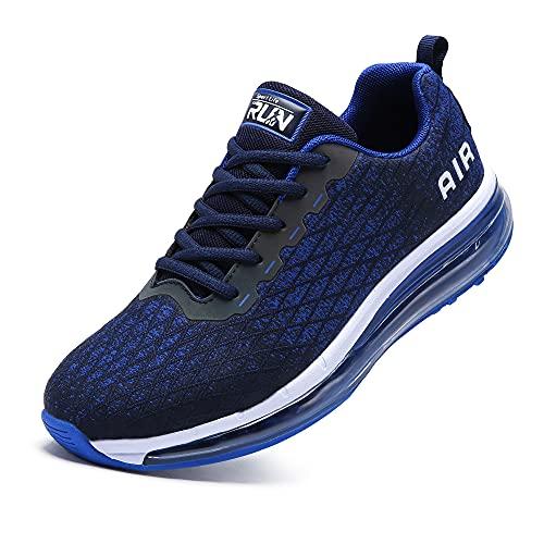 Axcone Laufschuhe Damen Herren Turnschuhe Sportschuhe Schuhe Air Cushion Sneaker Freizeit Training Fitness Gym 8998-BU 43