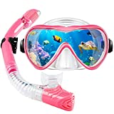 VillSure Snorkeling Gear for Adults,Snorkel Set Anti-Fog Tempered Glass Snorkel Mask for Swimming,Scuba Diving, Anti Leak Dry Top Snorkel Gear Panoramic Silicone Goggle No Leak for Women and Men