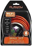 MUSWAY MW6.3KIT Kit 6MM ² Verstärker-anschluss-set 3 Metros De Hochleitfähigem Cobre Sólido 99,9% Ofc