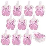 JZK 24 x Rose Jarretelles Pantalon en Forme de Bonbons Boîtes de Faveur Petit Cadeau de Boîte de Bonbons pour Filles Douche de Bébé Peu Anniversaire Fille Baptême Fête du Nouveau-né