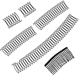 U Shape Hair Finishing Fixer Comb-5pcs, Invisible Bang Fringe Comb Clips, Bobby Pins Wavy Comb Clip, Mini Bangs Holder Fashion Women Hair Styling Tool