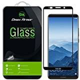 [2-Pack] Dmax Armor for Huawei Mate 10 Pro Screen Protector, (Full Screen Coverage) [Tempered Glass] Anti-Scratch, Anti-Fingerprint, Bubble Free, (Black)