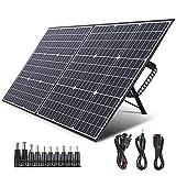 SWAREY Panel Solar Monocristalino 100W 18V DC/USB/QC3.0/Tipo-C PD 60W/MC4 ETFE Material Placa Solar para Generadores Camper Caravana Jardín