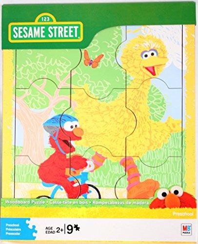 Sesame Street Woodboard Puzzle (9-Piece) -- Elmo & Big Bird