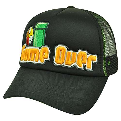 Flappy Bird Game Over Black Adjustable Snapback Trucker Hat