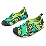 L-RUN Kids Swimming Shoes Barefoot Skin Water Aqua Sock Dinosaur 5-5.5=EU 20-21